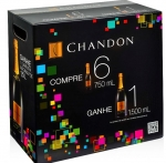 Kit 6 Chandon 750ml Brinde Magno 1500ml