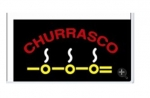 Placa Led Churrasco